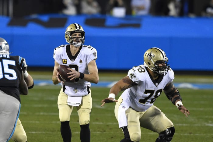 Positive Drew Brees signs entering perhaps final playoff run