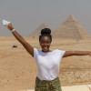 A student studying abroad with Study Abroad in Egypt at the American University in Cairo