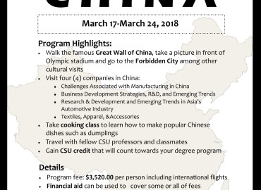 Study Abroad Reviews for CSU: China Faculty-Led Study Abroad Program