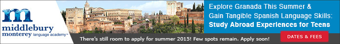 Middlebury Monterrey Language Academy: Summer Language Immersion in Granada, Spain for High School Students