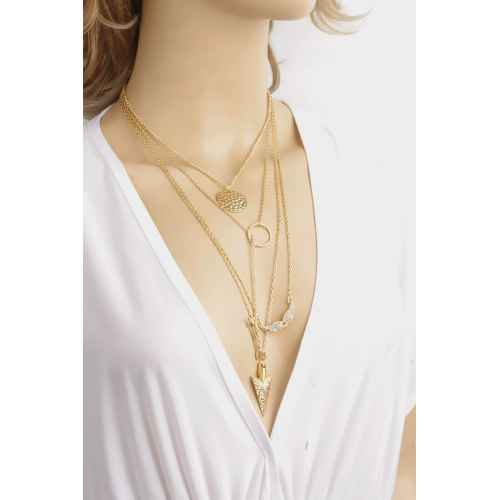 Gold Silver Touch Layered Necklace