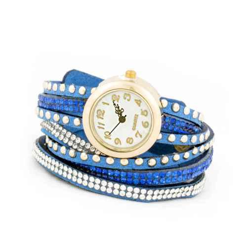 Dark Blue Strip Wrap Watch