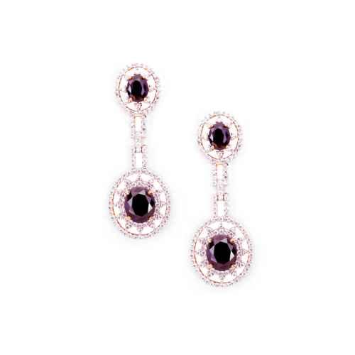 Gold Plated American Diamond Dangler Earrings