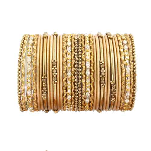 Beautiful set of Golden Glass Bangles