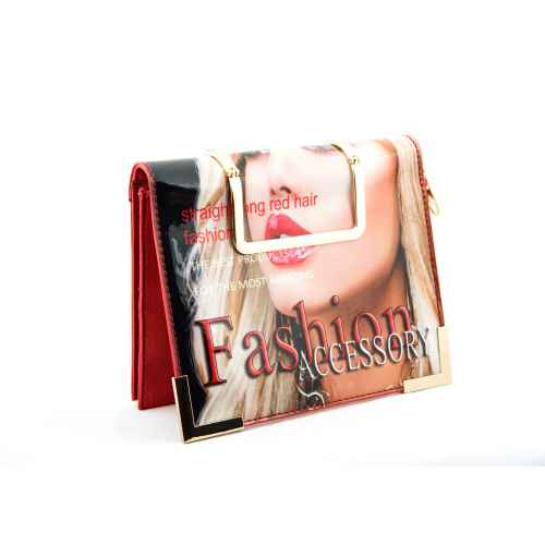 Red Pout Purse