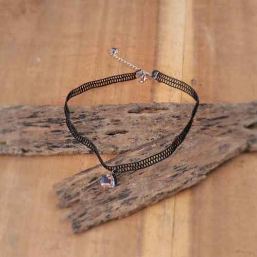 Diamond Brick Choker Necklace