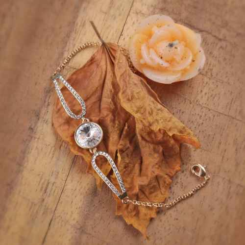 Clear Swarovski crystal Bracelet