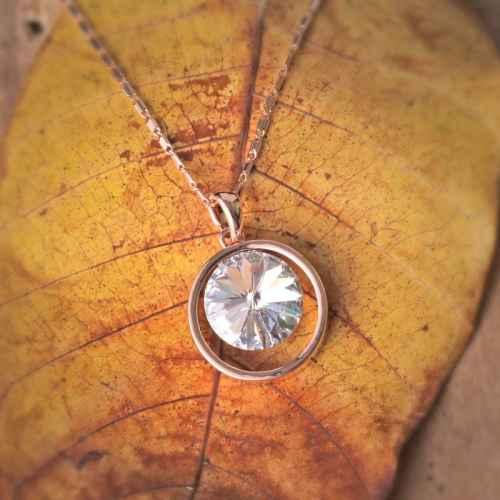 Diamond in the Ring Swarovski Crystal Pendant