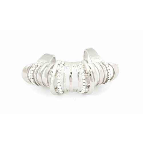 Silver stripe finger ring