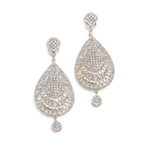 Gold Plated American Diamond Earrings