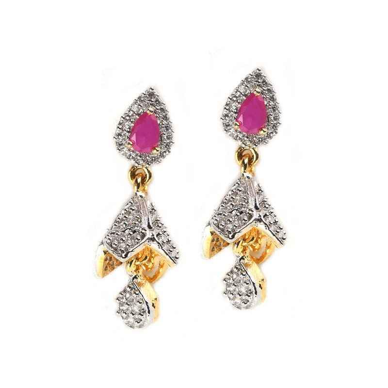 jhumka gold from in design diamond south india vbj l designs earrings jewels