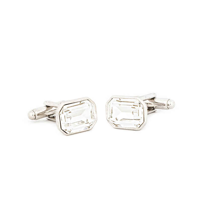 Precious Clear Crystal Cufflinks made with elements from Swarovski