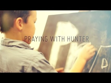 Praying with Hunter