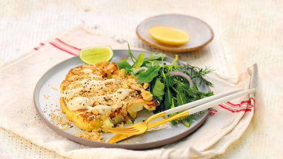 Cauliflower Steaks With Sauce