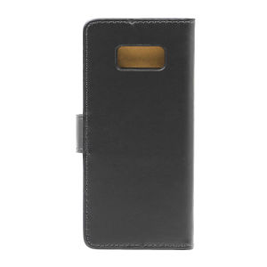 For Samsung S8 Clamshell Leather Sheath Black