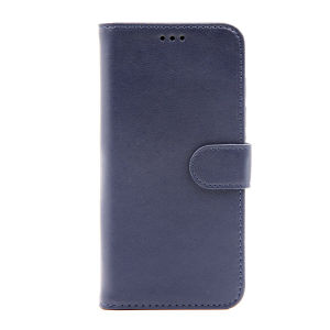 For Samsung S8 Genuine leather Blue