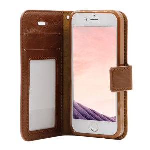 For iPhone 5/5S/5SE PU Leather Magnetic detachable Case Brown