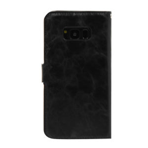 For Samsung Galaxy SM-G950F S8 PU Leather Magnetic detachable Case Black
