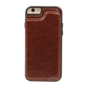 For iPhone 6/6S PU Leather Wallet Case Brown
