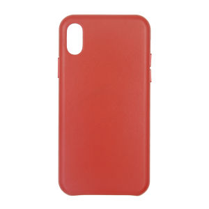 For iPhone X Genuine Leather Case Red
