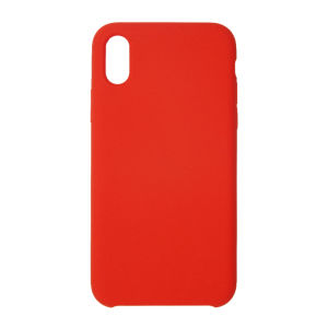 For iPhone X Silicon Case Red