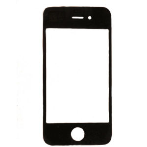 For iPhone 4S Glass Black Copy