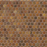 "Acadia 3/4"" x 3/4"" Wall Mosaic in Islesford Copper"