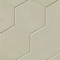 "Costa Allegra 8"" x 8"" x 3/8"" Floor and Wall Tile in Silver Strand"