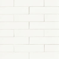 "Costa Allegra 3"" x 12"" x 3/8"" Floor and Wall Tile in White Sand"