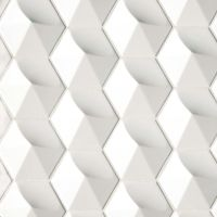 "Hedron 5"" x 4"" Wall Tile in Bright White Pearl"