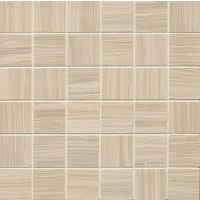"Matrix 2"" x 2"" Floor and Wall Mosaic in Classic Tan"