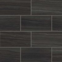 "Highland 12"" x 24"" Floor and Wall Tile in Black"