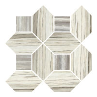 Zebrino Floor and Wall Mosaic in Classico & Bluette