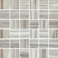 "Zebrino 2"" x 2"" Floor and Wall Mosaic in Bluette"