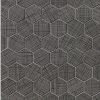 "Lido 2"" x 2"" Floor and Wall Mosaic in Black"