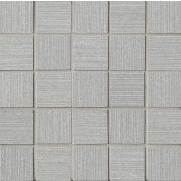 "Strands 2"" x 2"" Floor and Wall Mosaic in Silver"