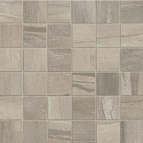 "Athena 2"" x 2"" Floor & Wall Mosaic in Ash"