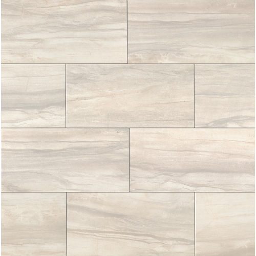 "Athena 12"" x 24"" Floor & Wall Tile in Pearl"