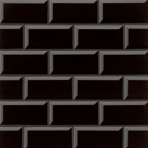 "Traditions 3"" x 6"" x 1/4"" Wall Tile in Black"