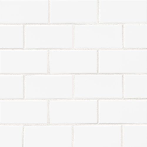 "Traditions 3"" x 6"" x 1/4"" Wall Tile in Ice White"