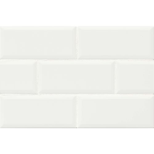 "Traditions 4"" x 10"" x 1/4"" Wall Tile in Ice White"