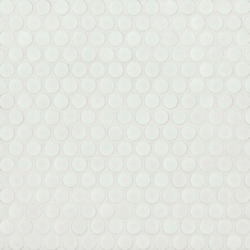 "360 3/4"" x 3/4"" Floor & Wall Mosaic in White Matte"