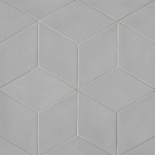 "Allora 7.38"" x 12.75"" Floor & Wall Tile in Solid Grey"