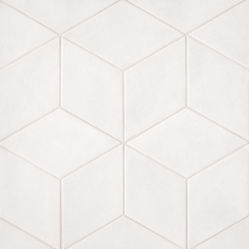 "Allora 7.38"" x 12.75"" Floor & Wall Tile in Solid White"