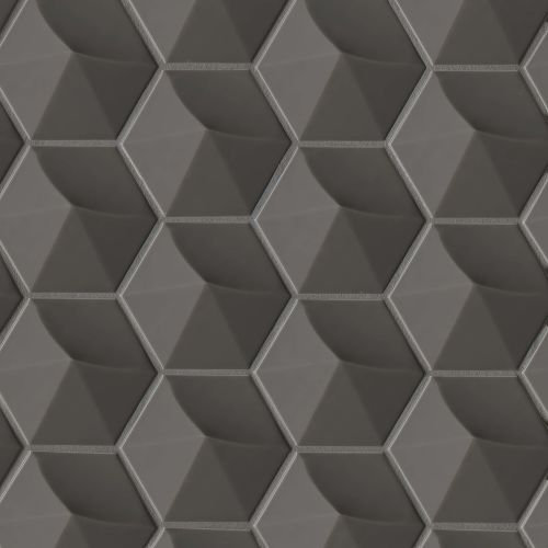 "Hedron 4"" x 5"" Wall Tile in Storm"