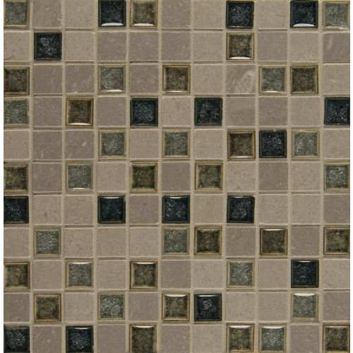 "Kismet 1"" x 1"" Wall Mosaic in Fate"