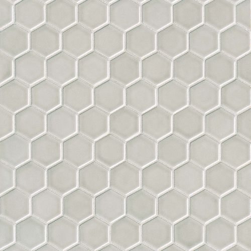 "Provincetown 1-11/16"" x 1-1/2"" Floor and Wall Mosaic in Dolphin Grey"