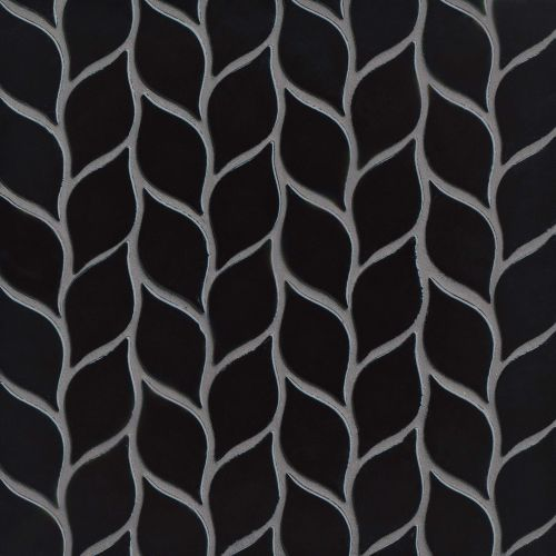 "Provincetown 2-13/16"" x 1-7/16"" Floor & Wall Mosaic in Fleet Black"