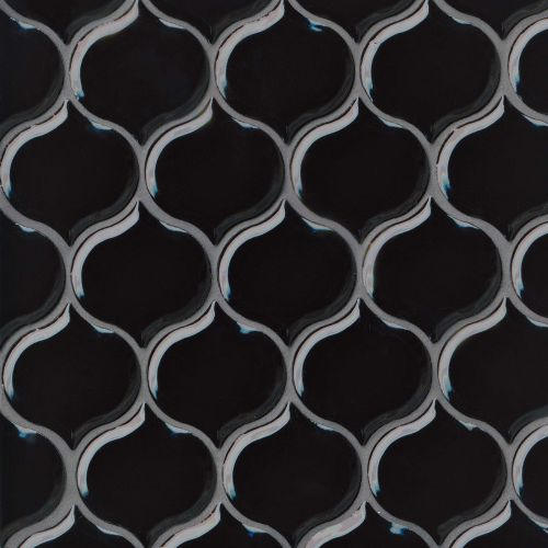 "Provincetown 3-1/16"" x 2-7/8"" Wall Mosaic in Fleet Black"