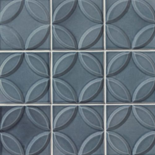 "Provincetown 6"" x 6"" Decorative Tile in Harbor Blue"